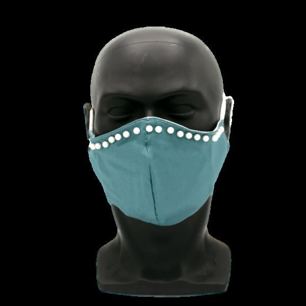 tuerkis maske mit perlen