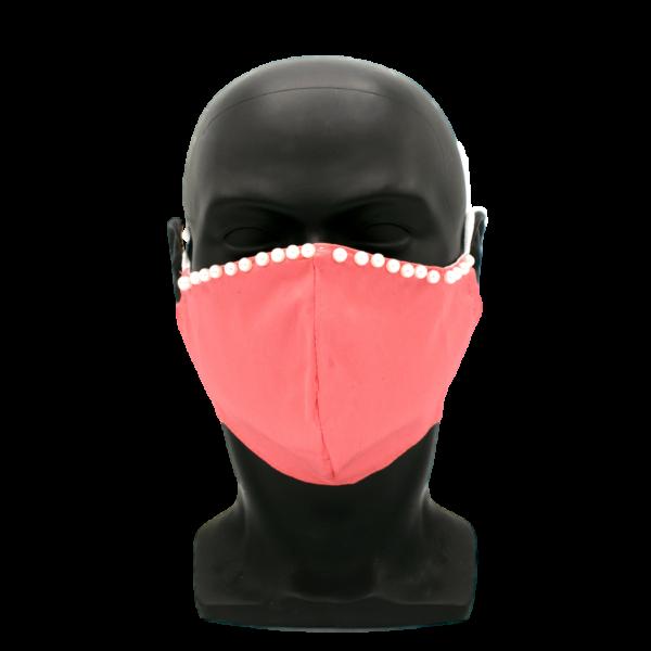 pinke Perlen Maske