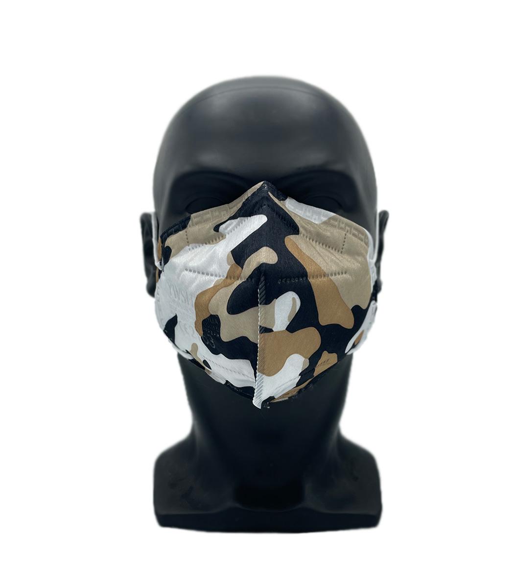 ffp2 camouflage braun